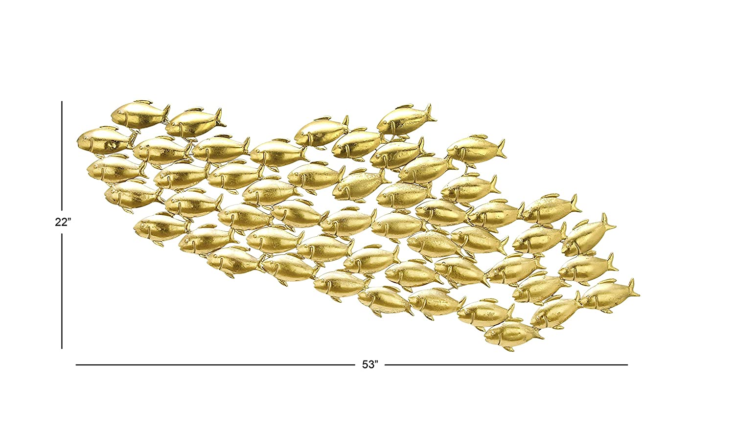Amazon.com: Deco 79 65499 Metal Gld Fish Wall Decor 53\