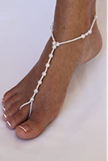 Barefoot Sandals Foot Jewelry All Pearl Beach Wedding Accessory