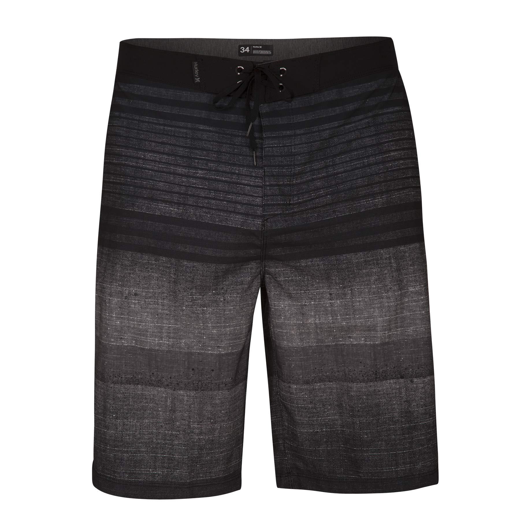 Hurley Men's Phantom Printed 21'' Stretch Boardshort Swim Short, Black, 34