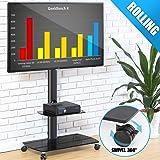 FITUEYES Soporte Móvil de Suelo con 2 Estantes para TV LCD LED OLED Plasma Plano Curvo 32-65 Pulgadas TT206503GB