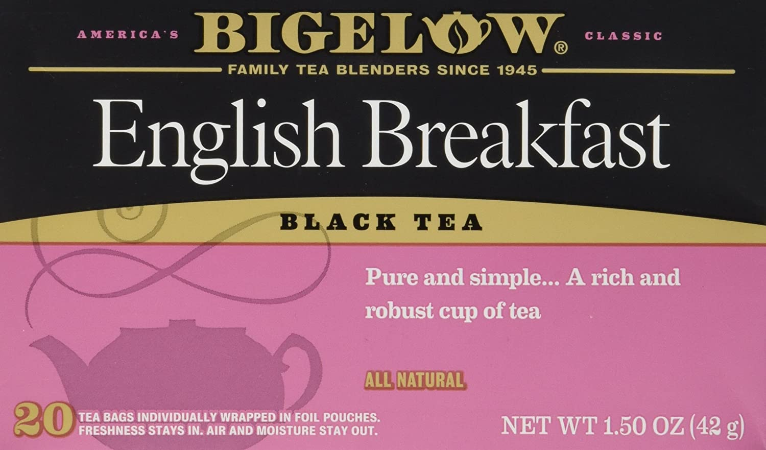 Bigelow Tea English Breakfast 20 Bags (3 Pack