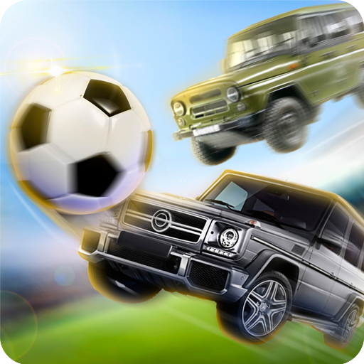 Soccer in Car Gelik vs UAZ ()