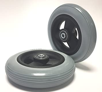 2 neumáticos para silla de ruedas, a prueba de pinchazos, ...