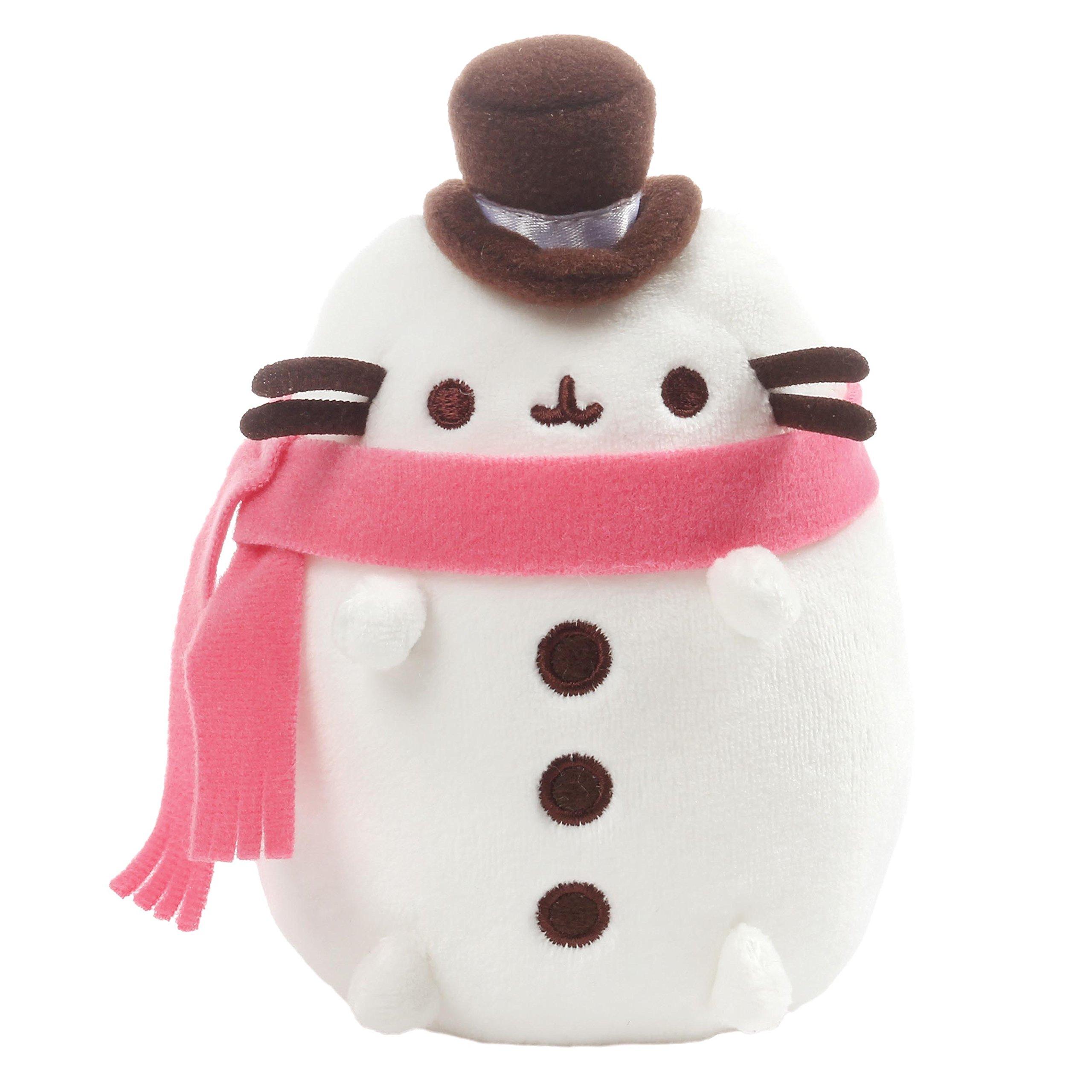 "GUND Pusheen Christmas Snowman Plush 6"" Stuffed Animal, White"