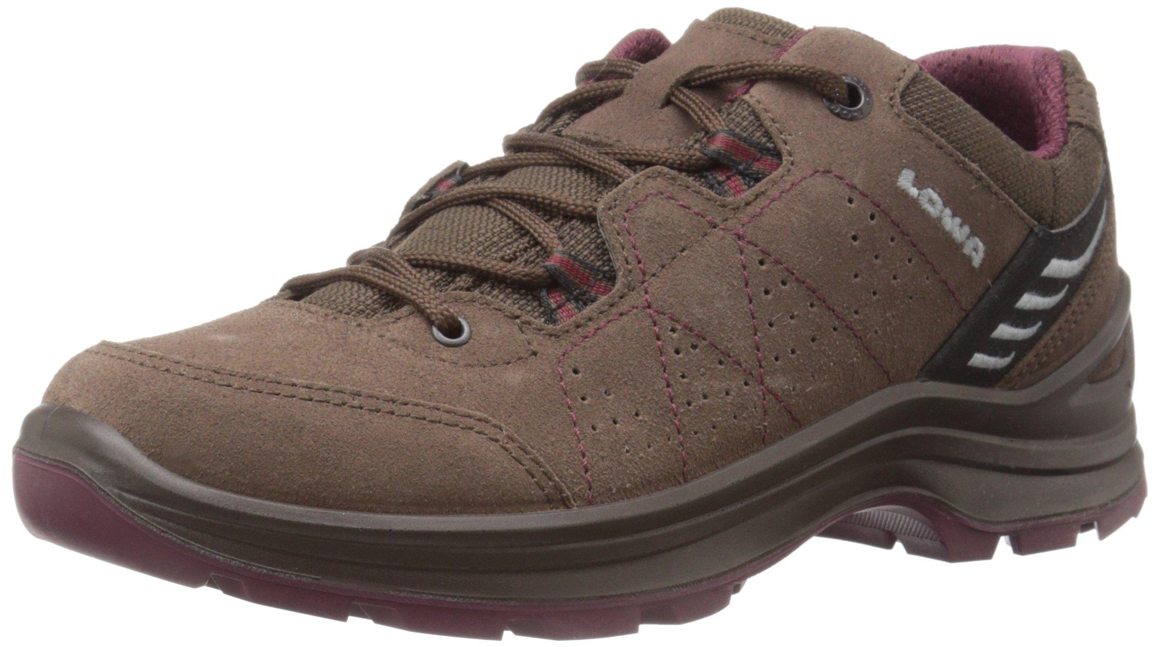 Lowa Women's Tiago Lo WS Hiking Shoe, Espresso/Berry, 11 M US