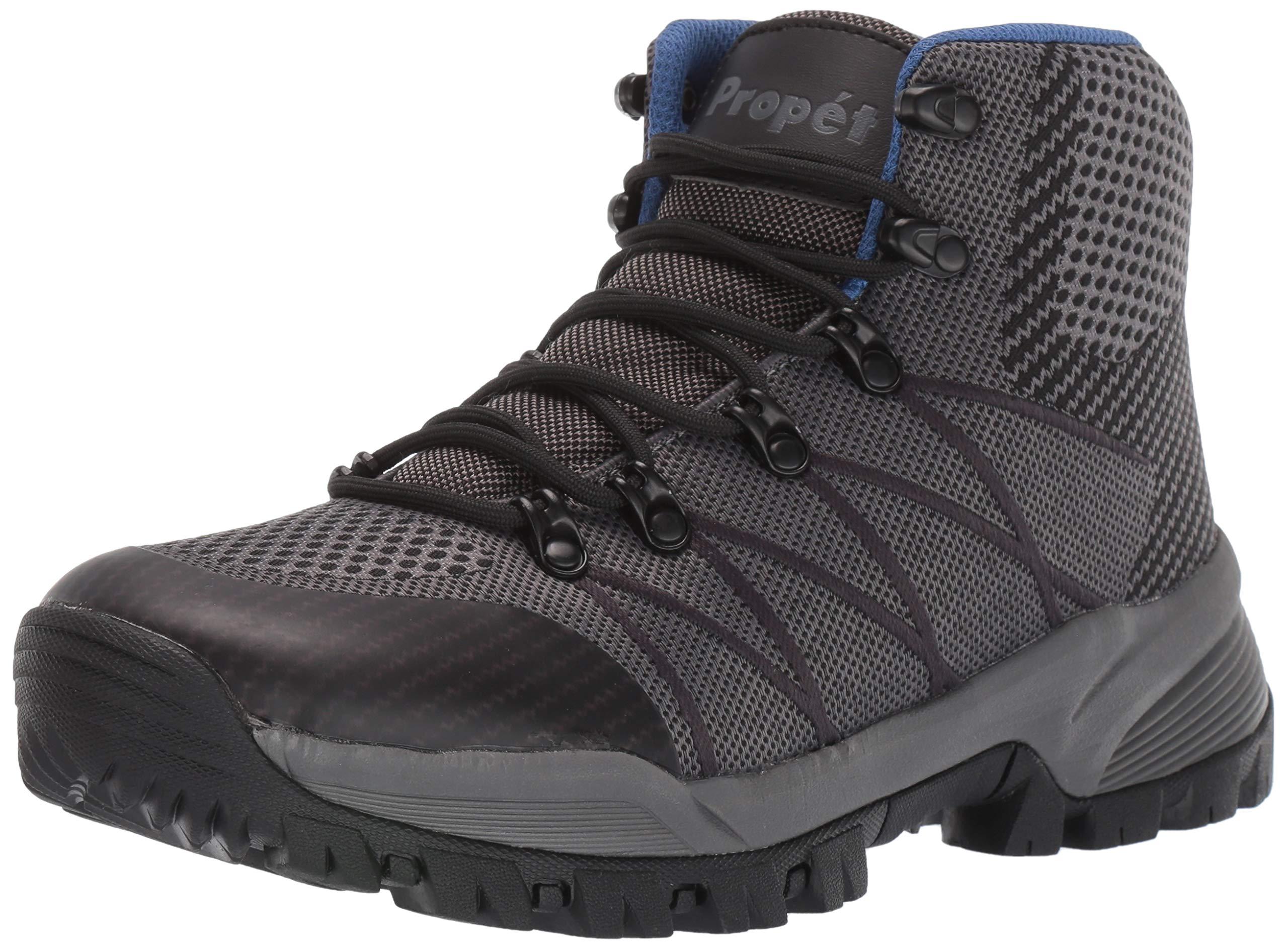 Propet Men's Traverse Hiking Boot, Grey/Black, 10 5E US by Propét
