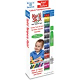 The Pencil Grip Kwik Stix Solid Tempera Paint, Super Quick Drying, 12 Pack