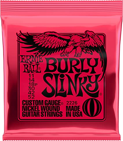 Ernie Ball Burly Slinky Nickelwound Electric Guitar Strings 11-52 ...