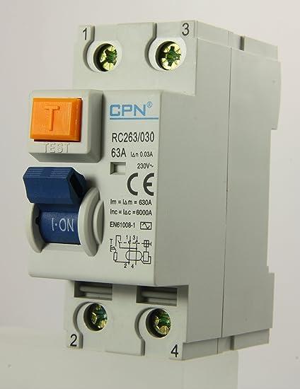 Brilliant Cudis Rc263 030 63A 30Ma 2 Module Dp Rcd Amazon Co Uk Kitchen Home Wiring Database Gramgelartorg