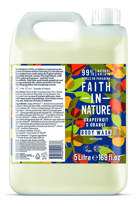 Faith In Nature Grapefruit & Orange bodywash 5 litre