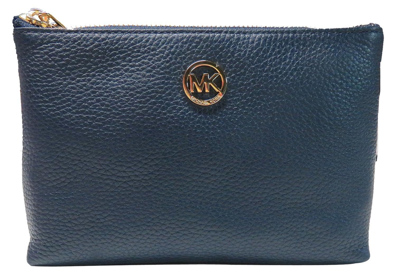 ba8542c88248 Amazon.com  Michael Kors Fulton Navy Blue Leather Travel Case  Clothing