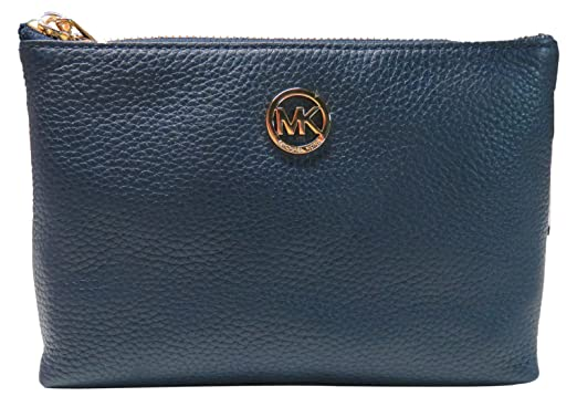 64a8fb0a5f84 Image Unavailable. Image not available for. Color: Michael Kors Fulton Navy  Blue Leather ...