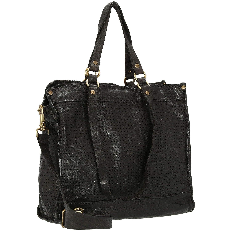 Campomaggi handväska läder 37 cm schwarz_schwarz, schwarz