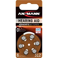 Ansmann 5013233 - Pila para audífono 312 zinc