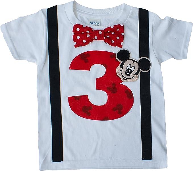 3rd Birthday Shirt Boys Mickey Mouse Tee