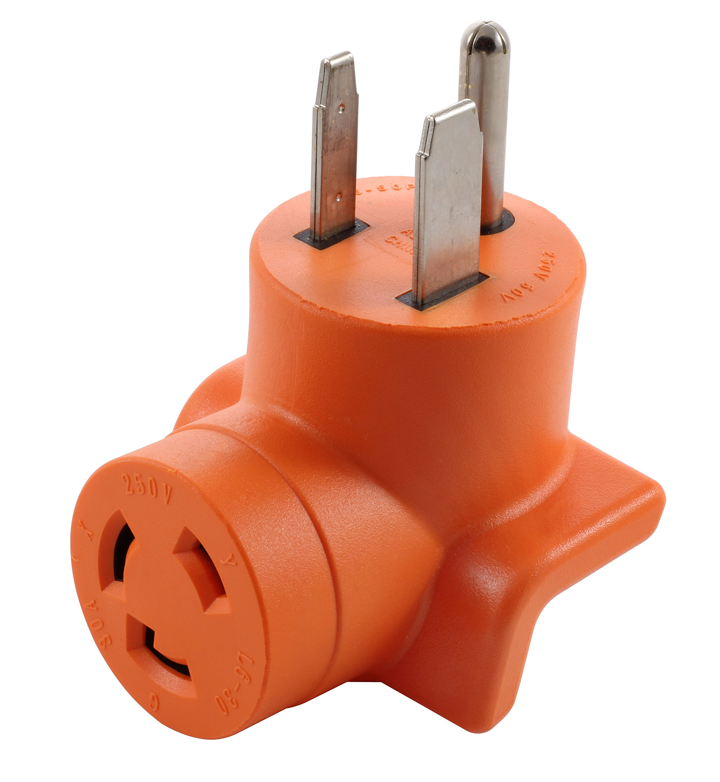 AC WORKS [AD650L630] Welder 6-50P Plug to L6-30R 3-Prong 30 Amp 250 Volt Locking Female Adapter