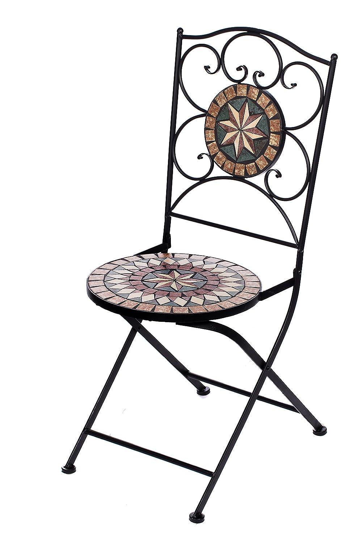 Hochwertiges Aufwendig Gearbeitetes Mosaik Stuhl Set