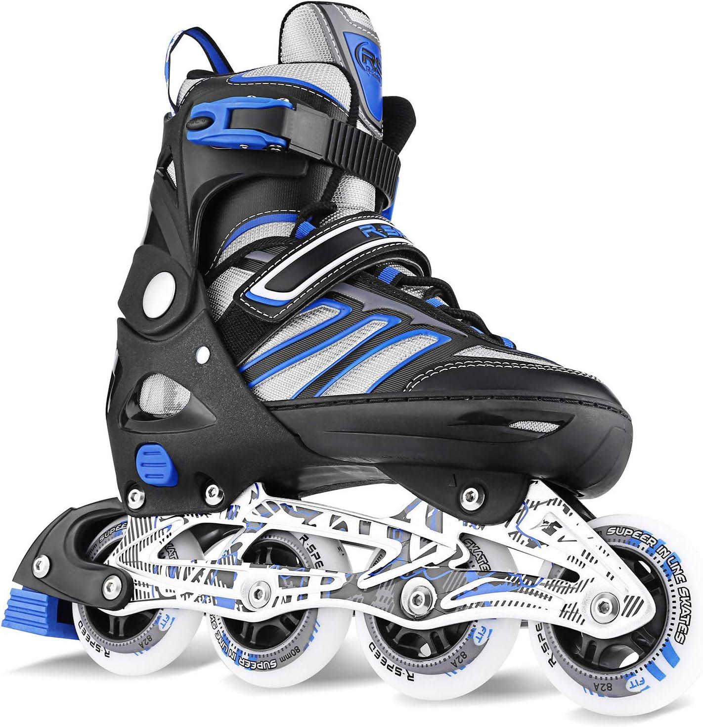 WeSkate Adult Teen Inline Skates Breathable Adjustable Size Beginner Outdoor Fitness Roller Inline Skates
