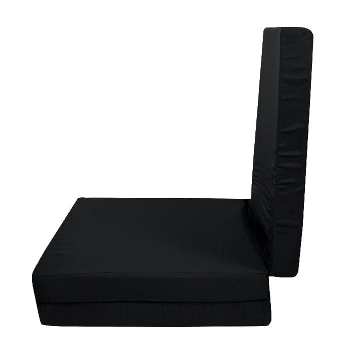 ZOLLNER Colchón Plegable para Invitados, 65x195 cm, Negro: Amazon.es: Hogar