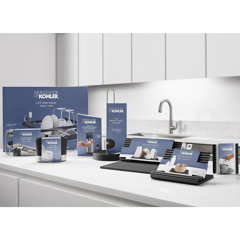 Multi-Purpose White Kohler Kitchen Sink Squeegee and Countertop Brush