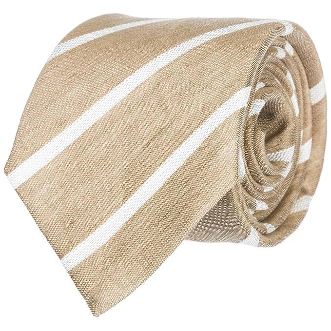 Emporio Armani corbata de hombre nuevo beige: Amazon.es: Ropa y ...