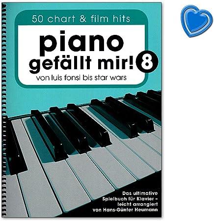Piano gefällt mir. 8 – definitiva parte libro para Piano – 50 Chart Hits actual y película Canciones – Ordenador libro con Bunter herzförmiger – ...