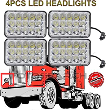 4x LED Headlight Sealed Hi//Low Beam HID Bulbs For Kenworth Peterbilt 357 378 379