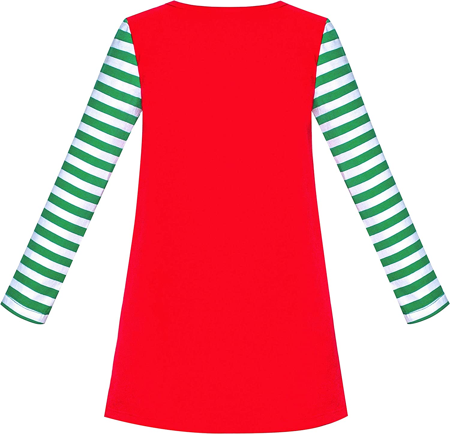 Sunny Fashion Girls Dress Long Sleeve Christmas Snowman Holiday Party Size 5-12