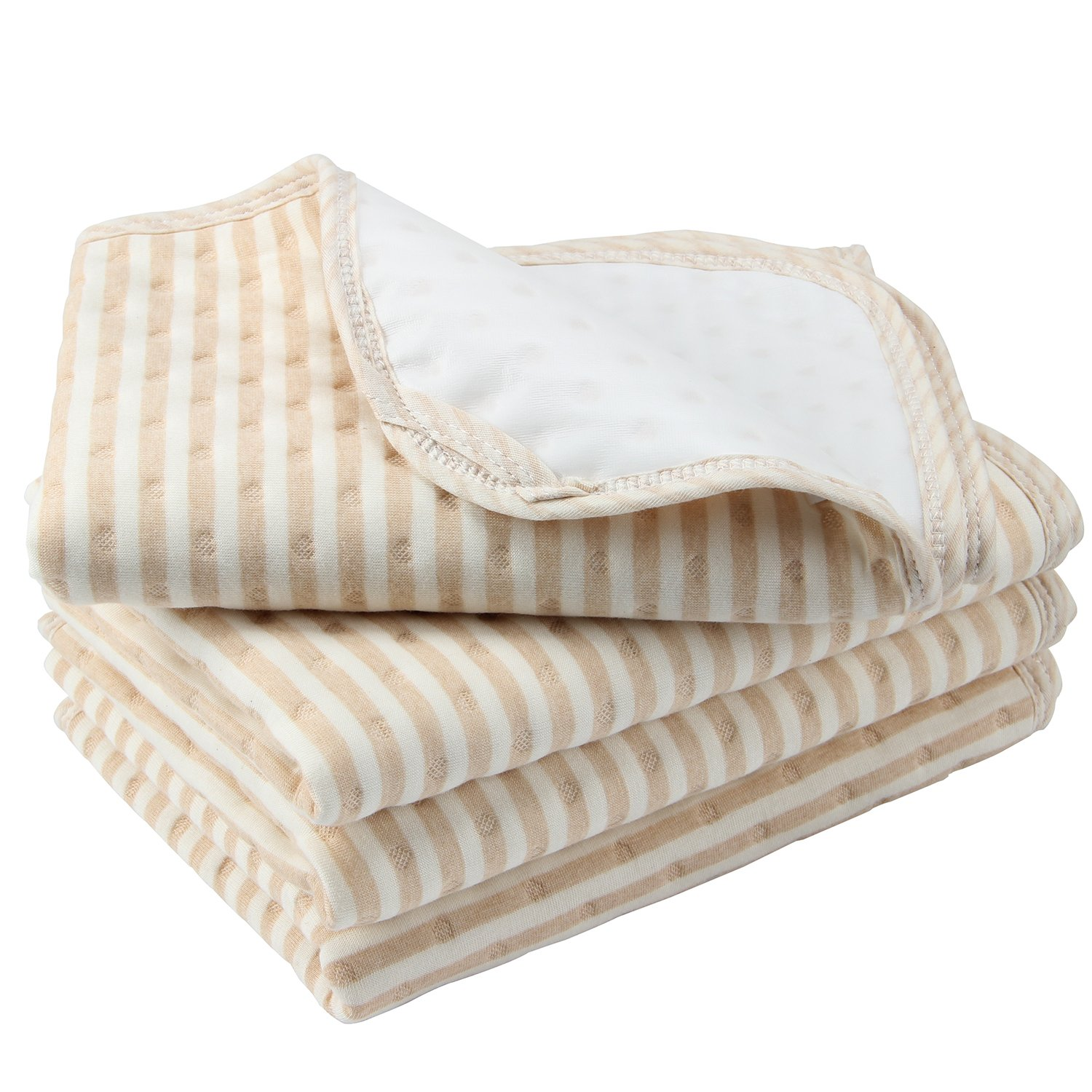 Biubee 4 Packs Waterproof Changing Pad Liners - 27.5'' X 19.7'', Wider and Longer to Cover your Changing Table Mattress Pad for babies or Adults