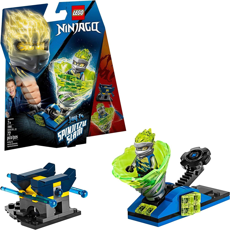 LEGO NINJAGO Spinjitzu Slam - Jay 70682 Building Kit, New 2019 (72 Pieces)