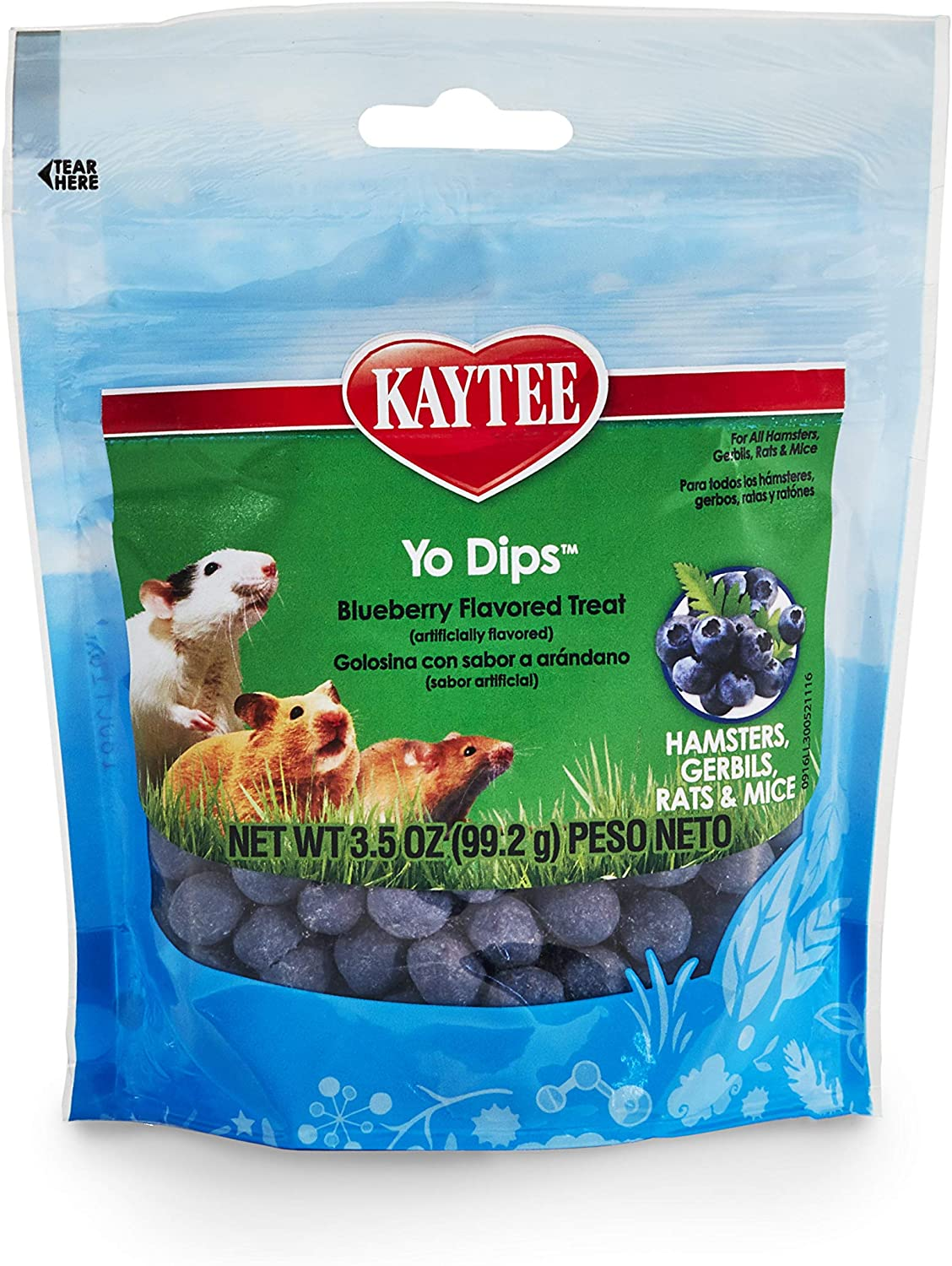 Kaytee Blueberry Flavored Ygurt Dipped Hamsters And Gerbil Treat