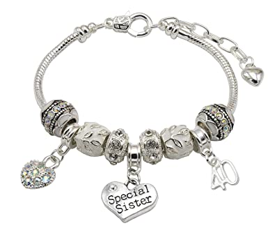 40th Birthday Charm Bracelet Women's C7i3p9Wt5
