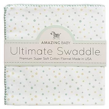 Amazing Baby by SwaddleDesigns Manta de franela de algod/ón para beb/és