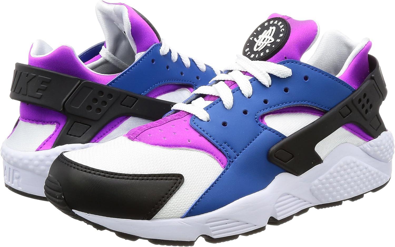 NIKE Mens Air Huarache Blue Jay//White Hyper Violet Running Shoe 7.5 Men US