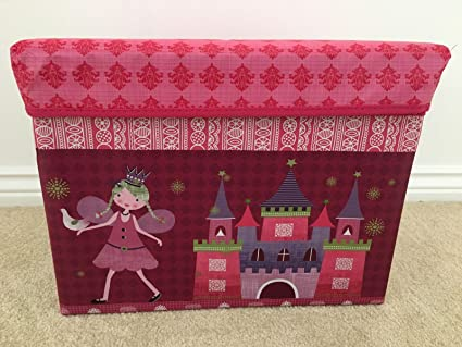 Sgabello contenitore cassapanca per bambini giocattolo per bambini