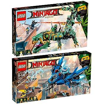 The Lego Ninjago Movie 2pcs. Set 70614 70612 Lightning Jet + Green ...