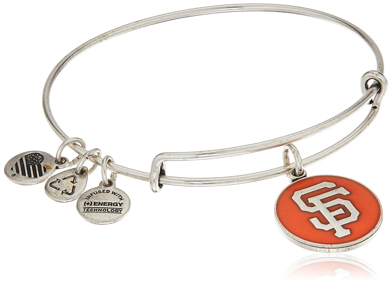 faef4b837525a4 Amazon.com: Alex and Ani San Francisco Giants Cap Logo Orange Expandable  Rafaelian Silver Bangle Bracelet: Jewelry