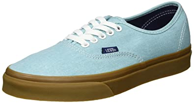 4bc060c885 Vans Men s Authentic Lace-Up Low-top Sneakers Blue (Washed Canvas Blue  Radiance Gum) 7 UK  Buy Online at Low Prices in India - Amazon.in