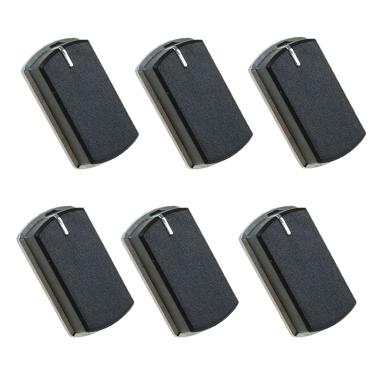 First4Spares Replacement Oven Control Knob for Belling Cookers Ovens Pack of 6 Black//Chrome