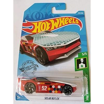 Hot Wheels 2020 Hw Green Speed Solar Reflex, Red 235/250: Toys & Games