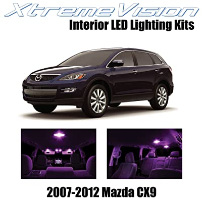 Xtremevision Interior LED for Mazda CX9 2007-2012 (10 Pieces) Pink Interior LED Kit + Installation Tool Tool: Automotive