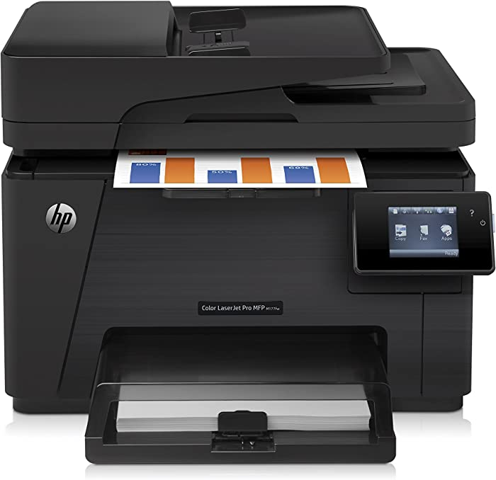 HP Laserjet Pro M177fw Wireless All-in-One Color Printer, (CZ165A)