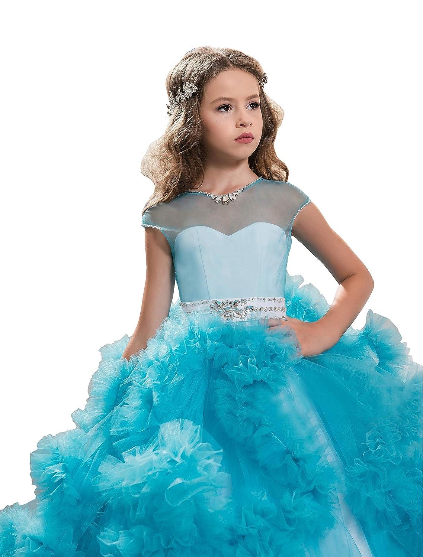 Amazon.com: Wenli Kids Glitz Formal Occasion Dresses Girls Beaded ...