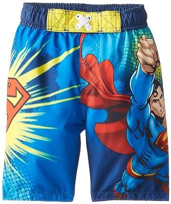4a0c20949d Amazon.com: DC Comics Superman Little Boy Swim Trunks Shorts Size 5T:  Clothing