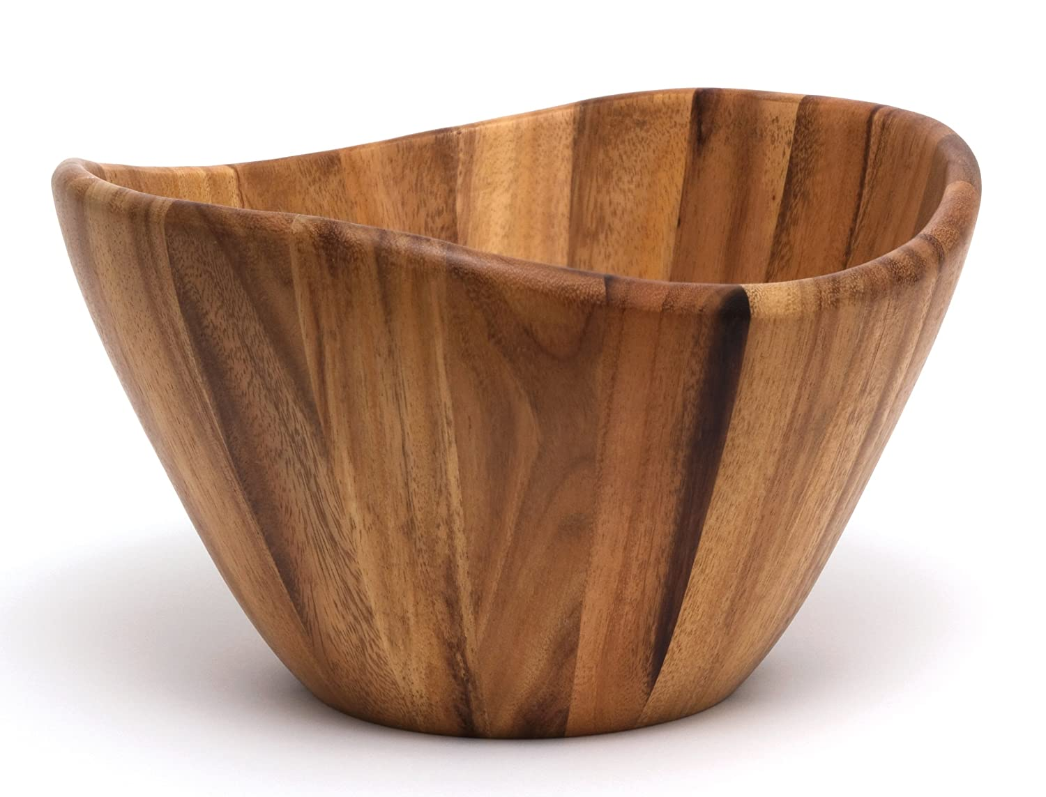 Lipper International 1174 Large Wavy Bowl, Acacia