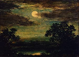 Canvas Print Wall Art - Moonlight On The River - by Ralph Albert Blakelock - 20