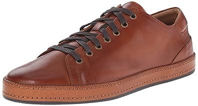 Donald J Pliner Mens Jagar-43 Sneaker Shoes, Tan Burnished Calf, US 7
