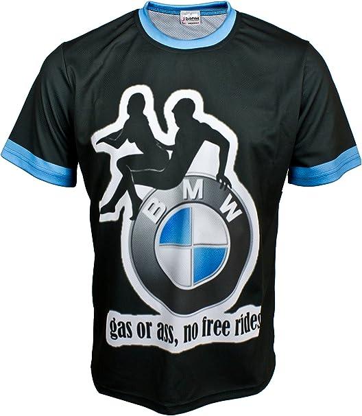 BMW M Power DTM Motor Sport negro – cara todo sublimación impresión camiseta: Amazon.es: Ropa y accesorios