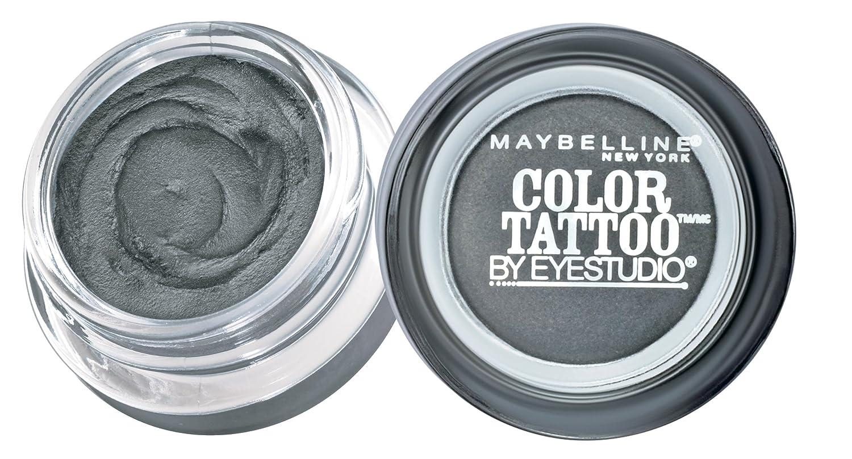Maybelline New York Eyestudio ColorTattoo Metal 24HR Cream Gel Eyeshadow, Audacious Asphalt, 0.14 Ounce (1 Count)