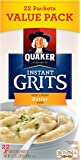 Quaker Instant Grits, Butter Flavor, Value Pack, 22 Packets